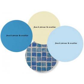 Rustine de liner ronde 14,5 cm de diamètre 4 coloris